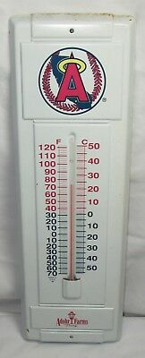 """Vintage Advertising Thermometer,Angels Baseball,Adohr Farms Dairy,Metal,14"""""""