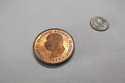 1977 Togo Proof Piefort 2X Reeded Edge, 10,000 Francs, 20 Minted, Copper, Rare