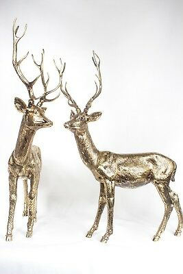 Pair Solid Brass Deer statue hand made