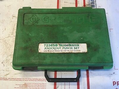 BOX ONLY EMPTY CASE Greenlee Slug buster knockout punch set 7238SB