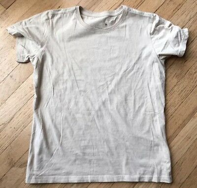 Patagonia Water girl women's size medium organic cotton s/s  tshirt Sesame.