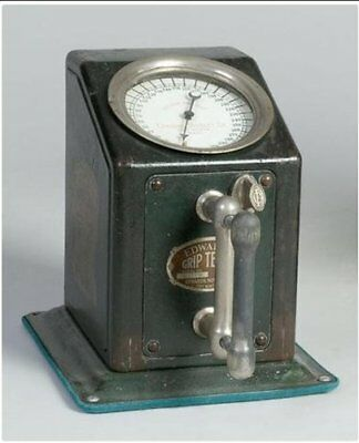 Antique Original EDWARDS NOVELTY GRIP TESTER Trade Stimulator Machine 1929