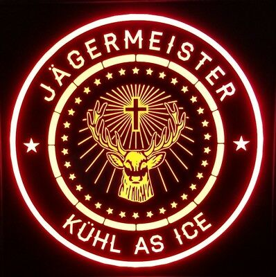 Custom Jagermeister 12 x 12 Man Cave Multi color LED Sign led box with remote