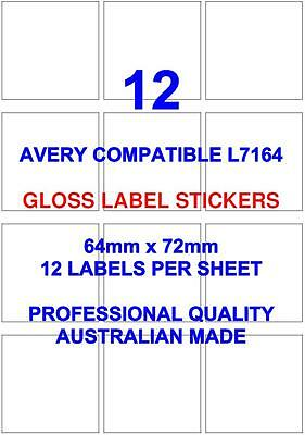 Avery L7164 Compatible Gloss Address Label Stickers 12 X 20 Sheets