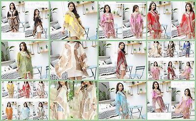 $3.95 each- wholesale 50 Beach Cover up Tunic Top Scarf Wrap Poncho Women Summer