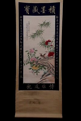 Large Unique Chinese Handwork Landscape Scroll Painting Mark RenBaiNian PP650