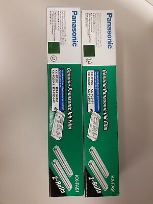 Genuine OEM Panasonic KX-FA91 Ink Film 2 Rolls Brand New in Wrapper