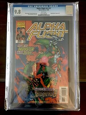 Alpha Flight #17 CGC 9.8 White Pages Big Hero 6