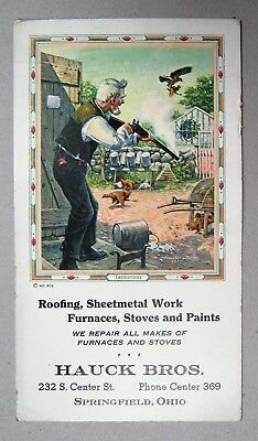 Vintage HAUCK BROS. Springfield Ohio Advertising Unused Ink Blotter
