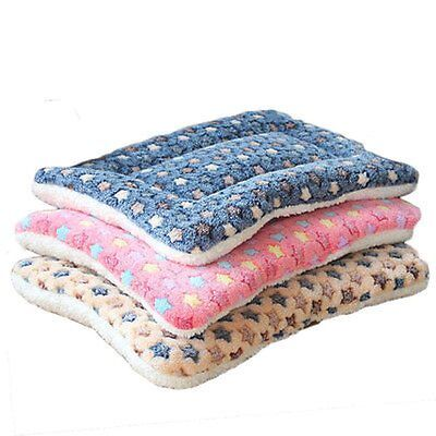 Pet Mat Dog Cat Fleece Blanket Bed Mattress Pillow Cushion Kennel Cage Pad