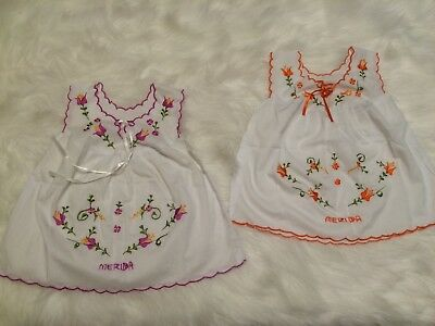 Authentic Handmade Embroidered Ethnic Dresses Size Infant