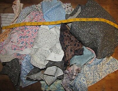 LOT OF QUILTING, FABRIC SCRAPS, EDWARDIAN, 1920's-30's
