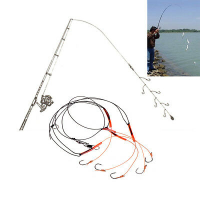 Fishing String Steel Hooks High Carbon Bait Holder Fishhook Tackle Accessory