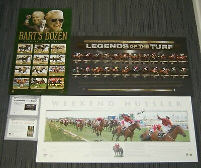 Horse Racing Weekend Hussler Bart Cummings Legends Of The Turf Signed Prints Coa