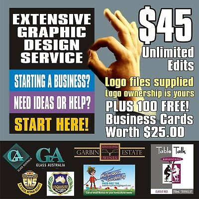 Logo Design And 100 Business Card Package - Professional Design Unlimited Edits