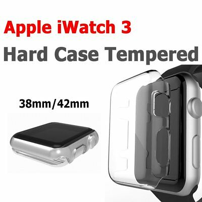 38mm/ 42mm Clear Ultra Full Case Cover Screen Protector For Apple Watch Series 3