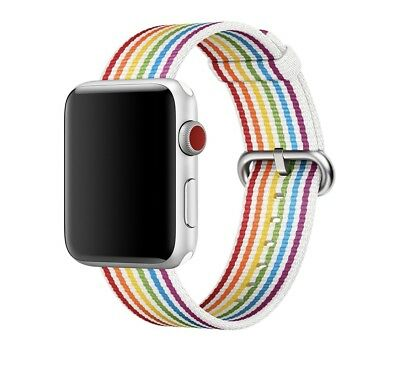 New in box! 42mm Apple Watch Band Rainbow PRIDE EDITION Nylon