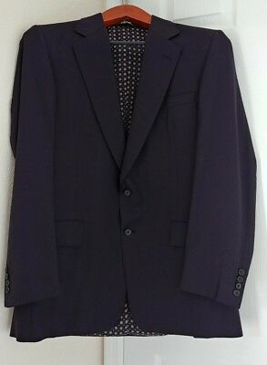 Chester Barrie England Carroll & Company Navy Pinstripe Sport Coat Hand Tailored