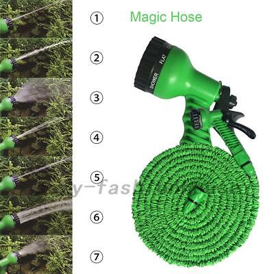 Latex 75 100 FT Expanding Flexible Garden Water Hose with Spray Nozzle AU