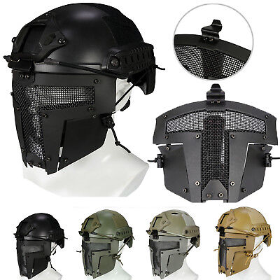 Tactical Airsoft Mask SPT Sparta Metal Mesh Paintball Full Face Helmet Cover #AU