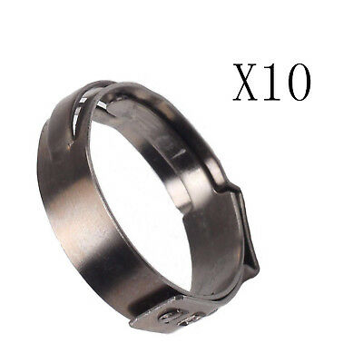 Stainless Steel 10X 3/4 Inch PEX 304 Clamp Cinch Rings Crimp pinch Fitting