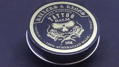 Tattoo aftercare - Killers & Kings Tattoo Balm 50g silky smooth gentle on skin