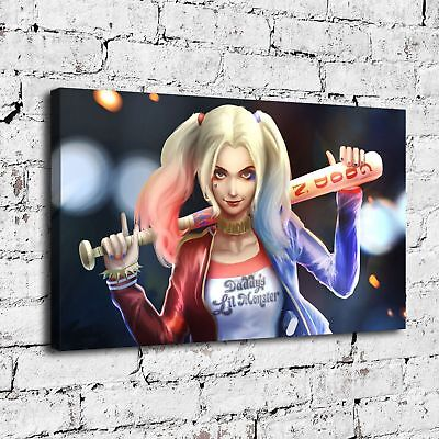 "12""x18""Harley Quinn Art Painting HD Print on Canvas Home Decor Wall Art Picture"