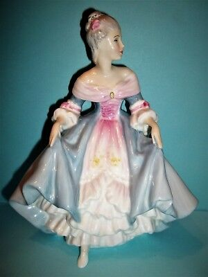 "Royal Doulton""Southern Belle""Figurine HN2425~7 3/4""Tall -Pale Blue & Pink~ Mint"