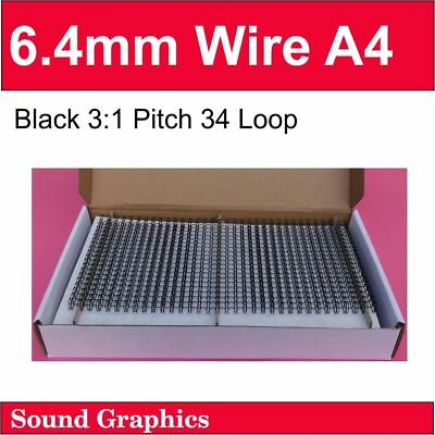 """6mm, 6.4mm Or 1/4"""" TWIN LOOP BINDING WIRE x 500's - Black/White/Silver"""