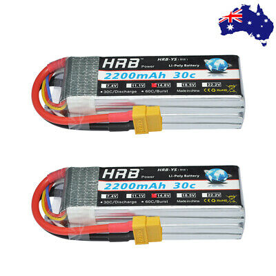 HRB 4S 14.8V 6000mAh Lipo Battery 50C 100C Deans for RC Helicopter Airplane Car