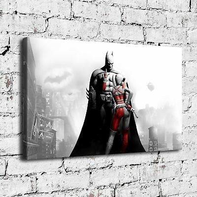 Harley Quinn Arkham City Painting HD Print on Canvas Home Decor Wall Art Picture