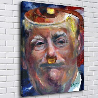 "12""x16""Donald Trump Pancake Fuhrer Painting HD Print Canvas Home Decor Wall Art"