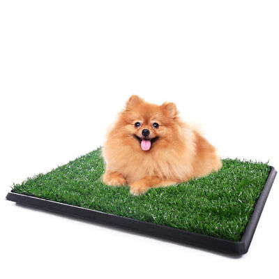 Puppy Pet Potty Training Pee Indoor Toilet Dog Grass Pad Mat Turf Patch