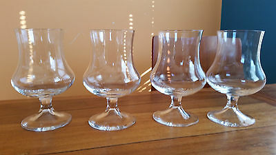 Four Beautiful Crystal Brandy Glasses / Balloons