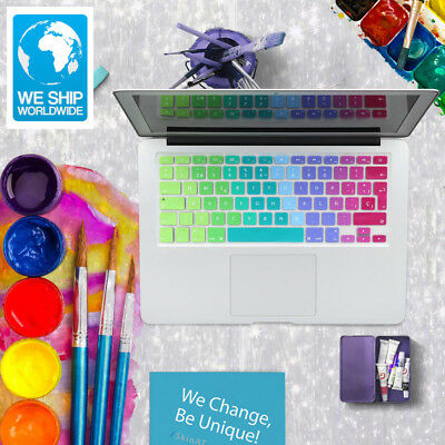 US EU UK rainbow silicon keyboard cover for Apple macbook air 13 pro 15 retina 1