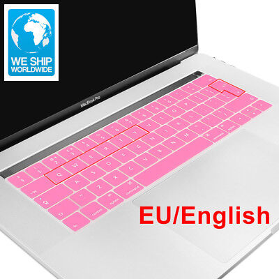EU English 2016 New Ultra Thin Silicone Keyboard Cover Skin For Macbook Pro 13 A