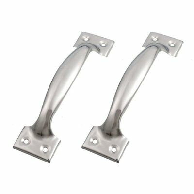 """5X(2 x Silver Tone Stainless Steel Pull Handles Grips 6"""" for Windows Doors W6J6)"""