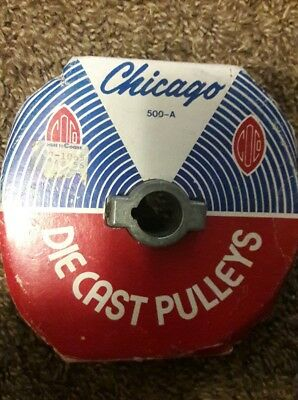 "Chicago Die Cast Single V Grooved Pulley  5""  with ¾"" Bore NEW"