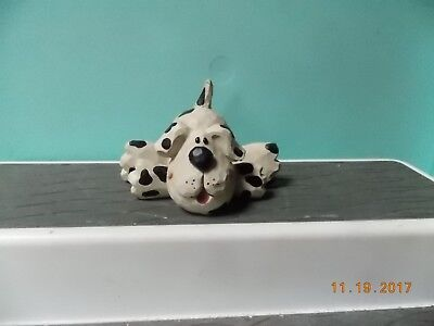 Blossom Bucket Cute Spotted Dog Figure