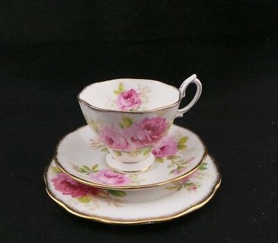 """Vintage Royal Albert """"American Beauty"""" Trio, Cup, Saucer And Plate"""