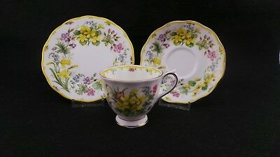 """Royal Albert Country Bouquet Collection Trio, Cup, Saucer & Plate """"Warm Sunrise"""""""
