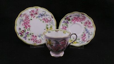 Vintage Royal Albert Country Bouquet Collection Trio, Cup, Saucer & Plate