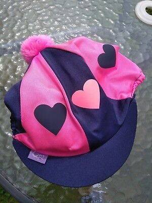 Capz riding hat silk blue and pink
