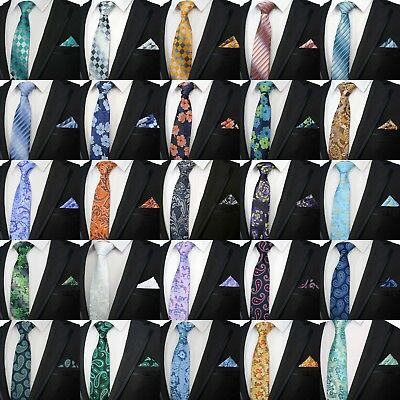 Men's Matching Tie And Pocket Square Wedding Party Event Floral Paisley Set Uk