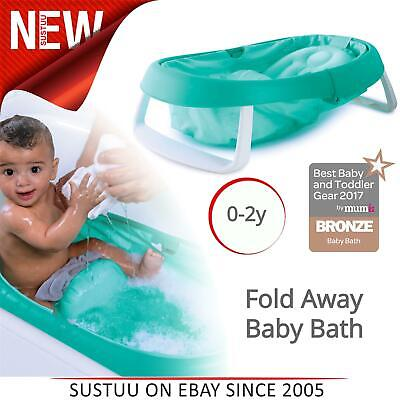 Summer Infant Newborn-To-Toddler Fold Away Baby Bath Folding Toy Tub│0-2y│Green│