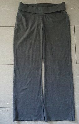 next ladies maternity grey marl soft comfy jersey trousers uk10