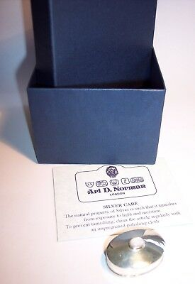 Ari D Norman Silver and Mother of Pearl Pill Box