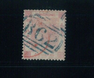 ( HKPNC ) HONG KONG 1862 QV 48c NO WATERMARK AMOY PAID IN RED FU SCARCE