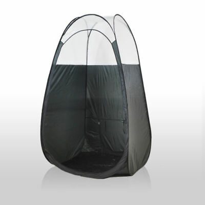 Portable / Mobile Black Pop Up Spray Fake Tanning Booth / Tent With Carry Case