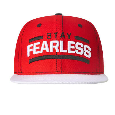 "Official WWE Authentic Nikki Bella ""Stay Fearless"" White Brim Snapback Hat Red"